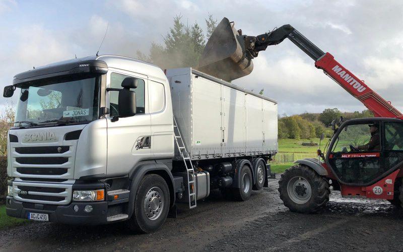 Scania G 450 Kombikipper 4 Kammern Heitling Ausblasschleuse